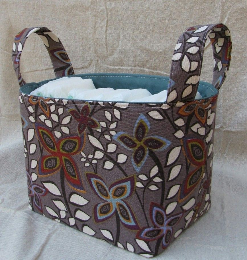 Household Storage Caddy - Free Tutorial and Pattern | Nähen ...