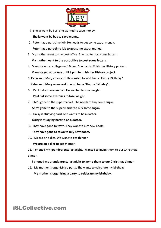 Infinitive Of Purpose English Units Teaching Jobs English Exam [ 1440 x 1018 Pixel ]