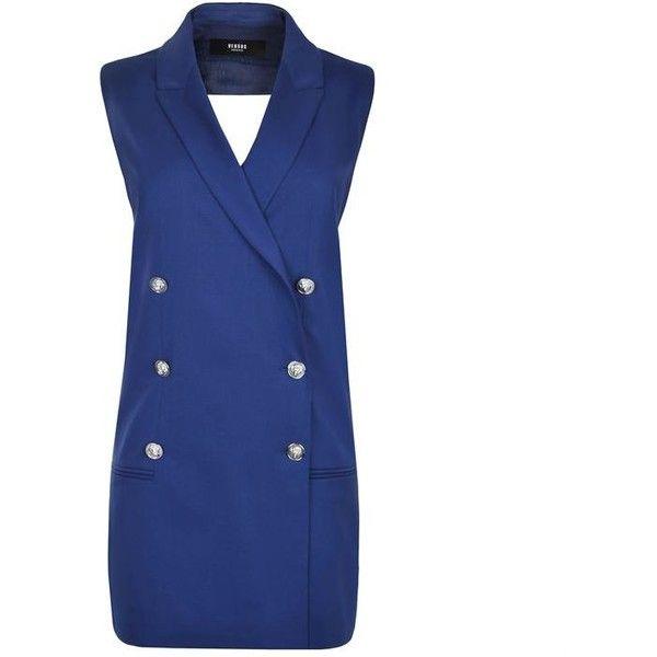 07b7523a37bd Versus Versace Lion Head Waistcoat Dress ( 235) ❤ liked on Polyvore ...