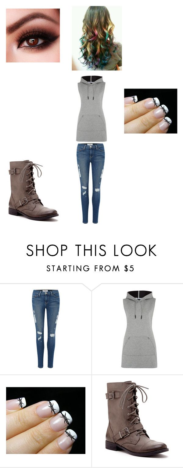 """""""Casey Asks You To Hang Out"""" by maryvarleyrox ❤ liked on Polyvore featuring mode, Frame Denim, T By Alexander Wang, Barbed, Sole Society, women's clothing, women's fashion, women, female et woman"""