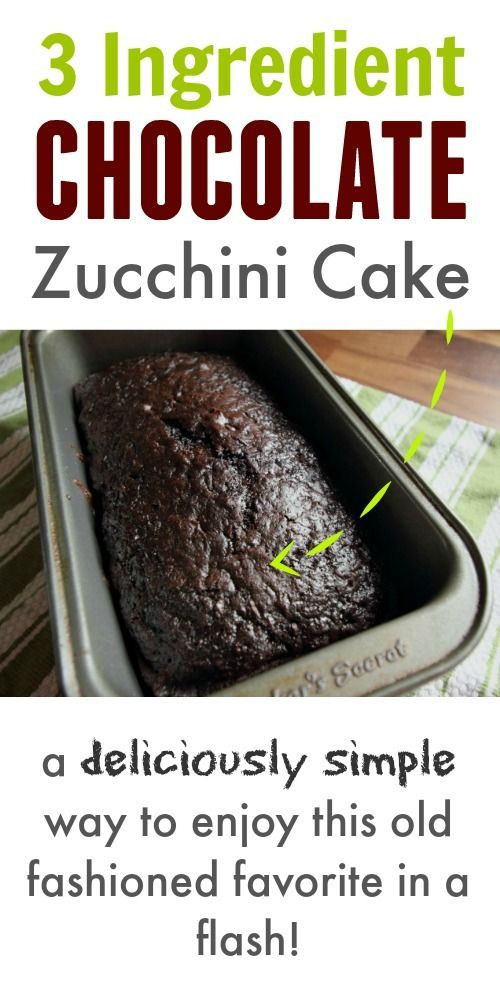 old fashioned chocolate zucchini cake recipe using only 3 ingredients! This turns out so well every time!