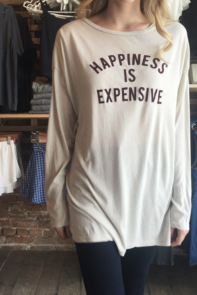 Brandy ♥ Melville | Samantha Happiness Is Expensive Top - Graphics