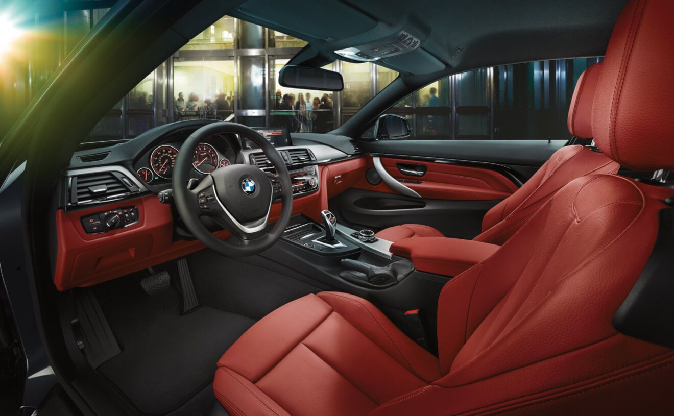 The Bmw 440i Coupe With Dakota Leather In Coral Red Bmw 4 Series
