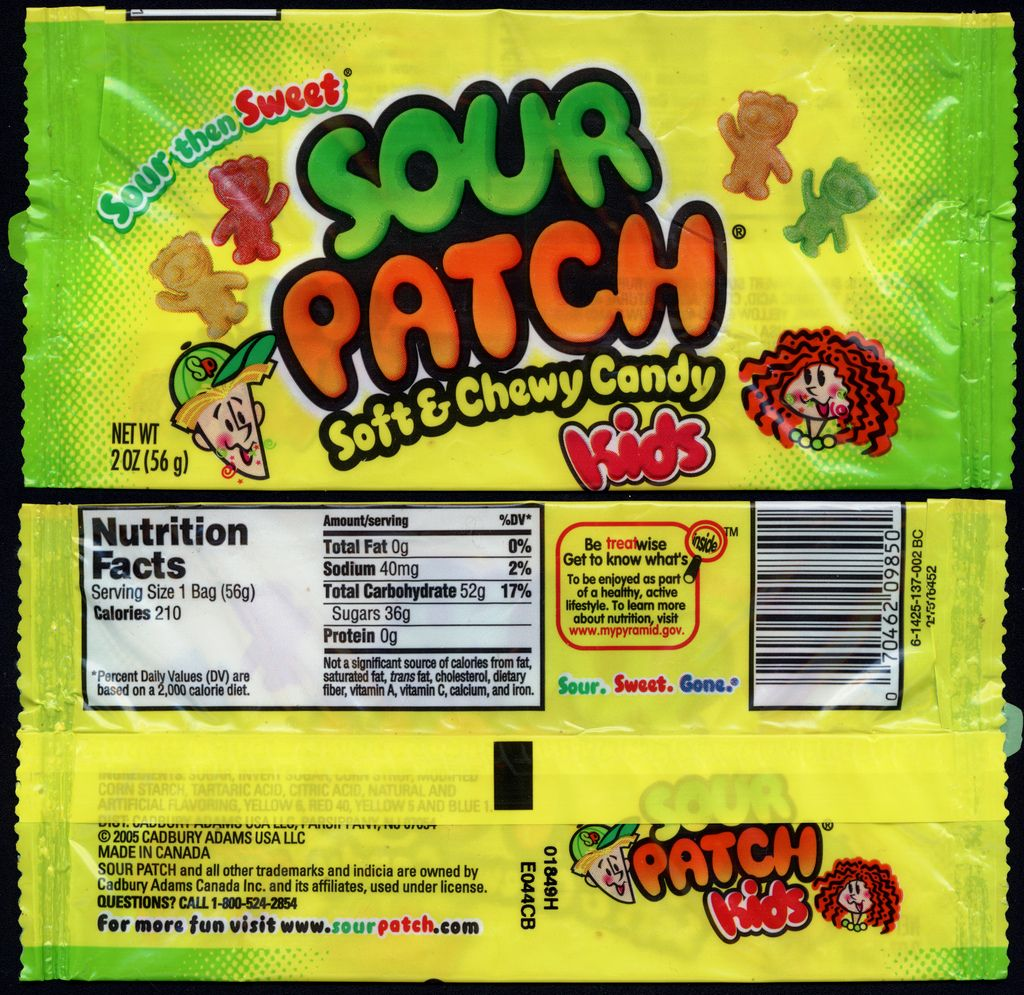 Cadbury Adams Sour Patch Kids Kids Pack 2011 Sour Patch Kids Chewy Candy Sour Patch