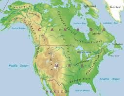 Us Canada Physical Map Image result for physical map of usa and canada | North america