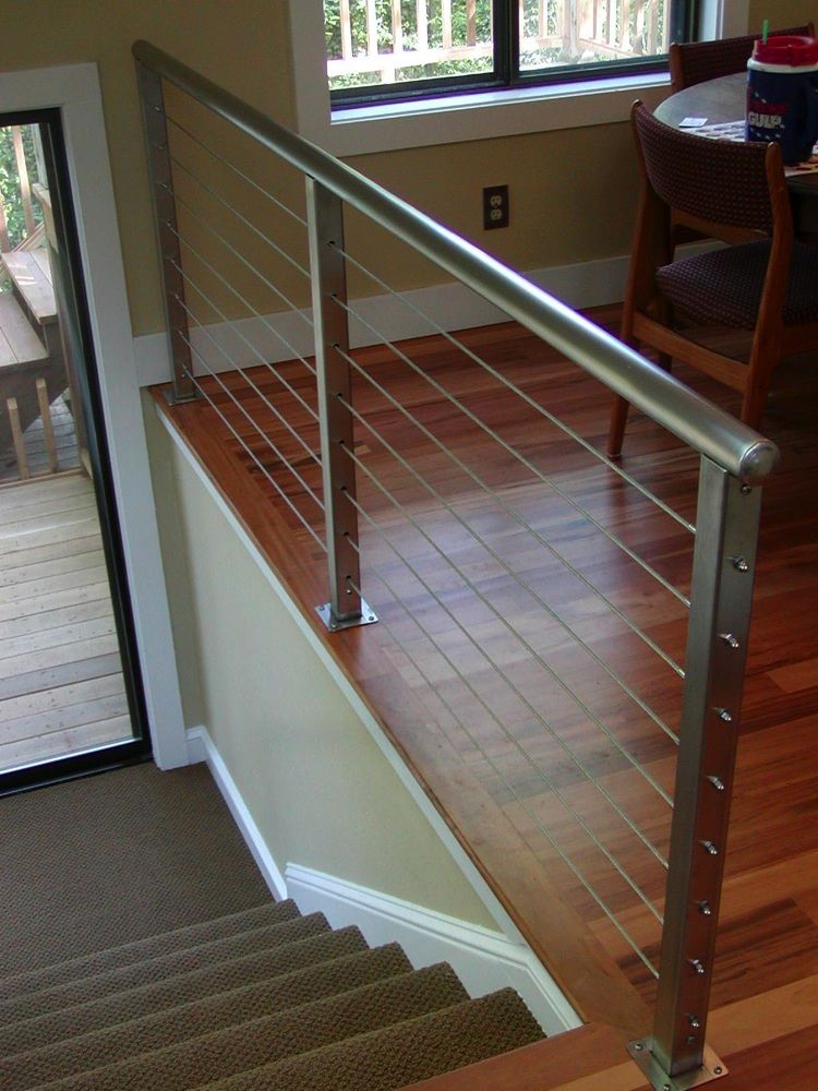 Stainless Steel Interior Railing San Diego Cable Railings Home Cable Railing Indoor Stair