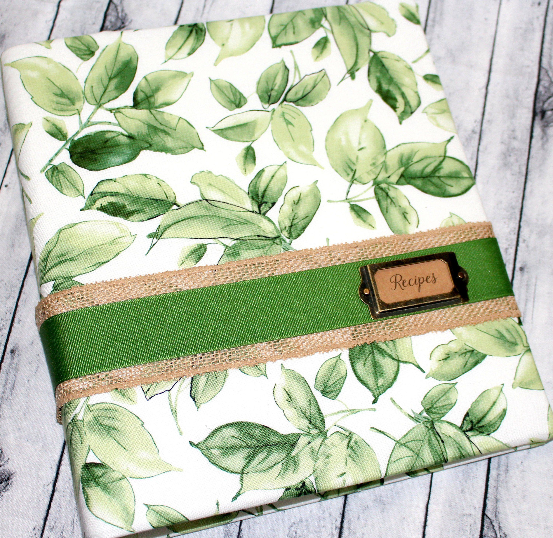 Recipe Binder, Greenery Recipe Book, Recipe Dividers, 3