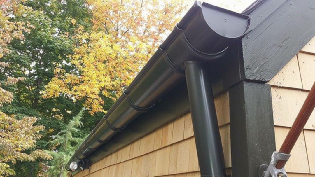 Black Half Round Gutters Gutters Elegant Homes Downspout
