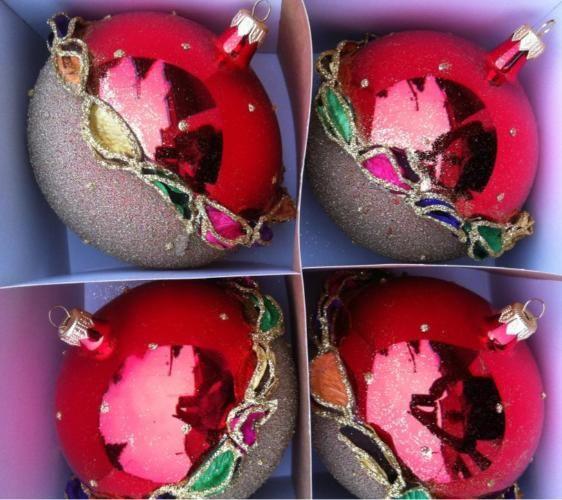 Szklane Bombki Choinkowe Recznie Malowane 10 Cm 4863058991 Oficjalne Archiwum Allegro Christmas Bulbs Christmas Balls Holiday Decor