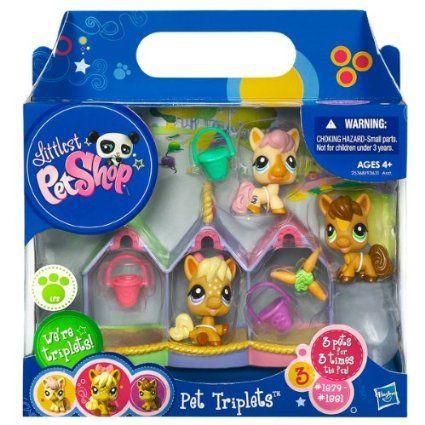 Amazon Com Littlest Pet Shop Pet Triplets 3 Pack Ponies Toy