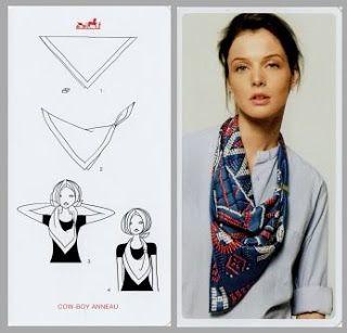 Cómo colocar pañuelos by Hermès   MASCADA TIPO PANUELO d363ba1b629