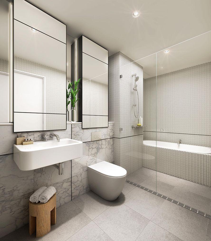 Belle salle de bains avec baignoire et douche ! #baignoire #douche ...
