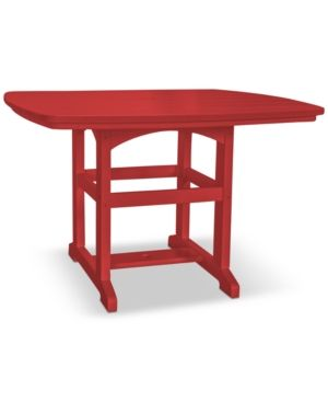 Pawleys Island Small Outdoor Dining Table, Quick Ship - Red