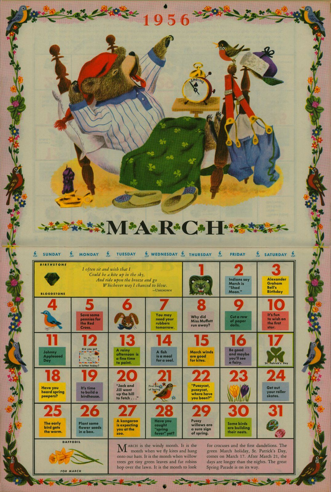 Calendar Illustration Board : Richard scarry march illustration from quot the golden