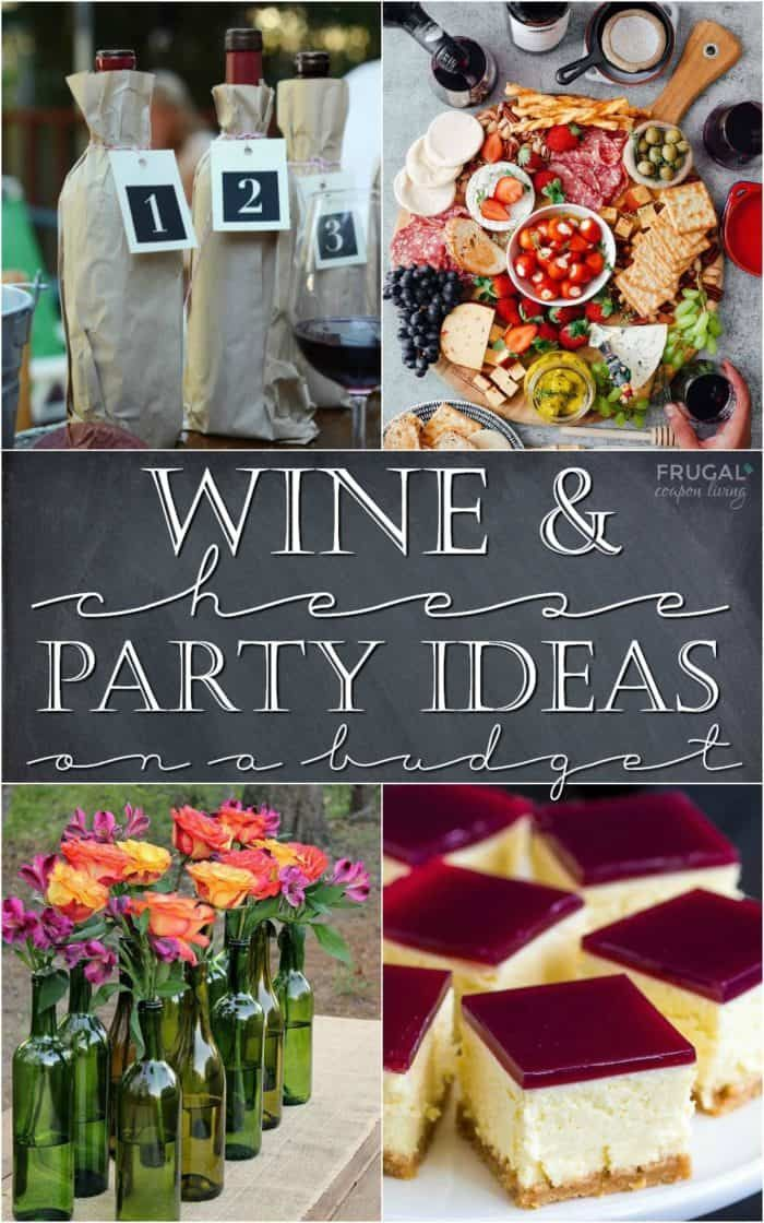 Wine and Cheese Party Ideas on a Budget. Recipes, cheese and charcuterie boards plus free wine and