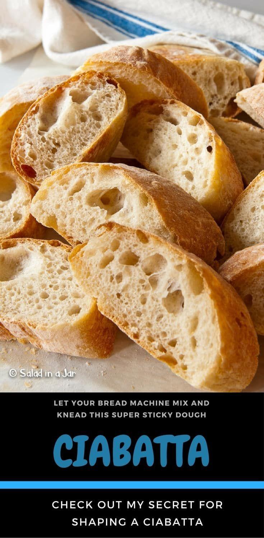 How To Make Ciabatta with a Bread Machine | Recipe | Bread ...