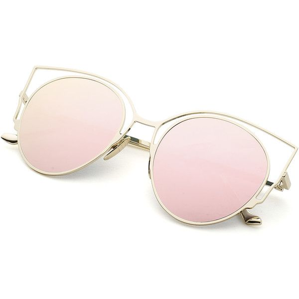 539ceec8fe Flat Lens Cat Eye Sunglasses (645 INR) found on Polyvore featuring women s  fashion