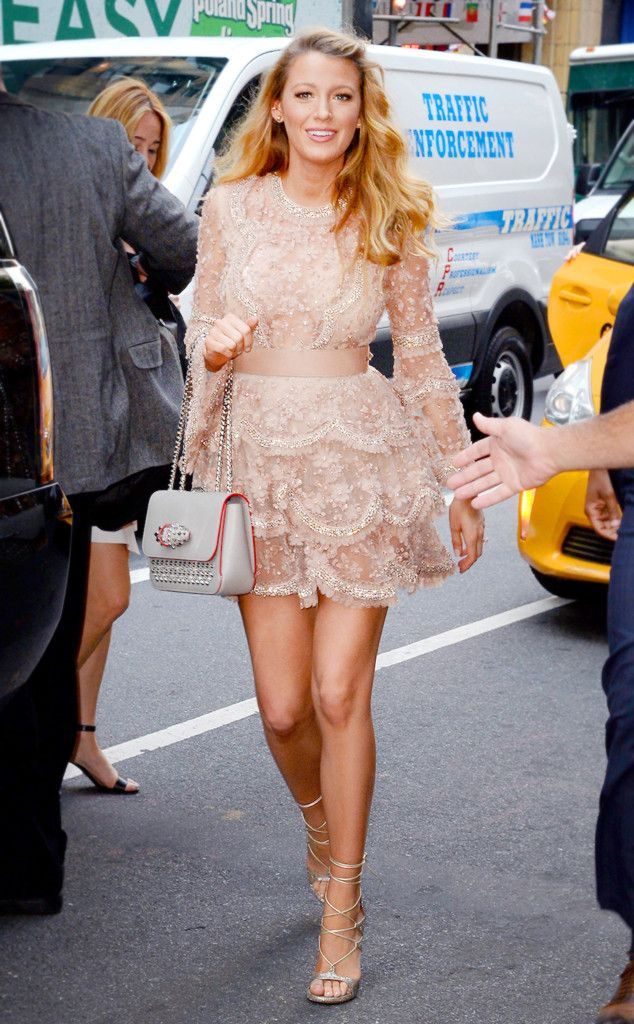 Today Show Fab from Blake Lively's Pregnancy Style for Baby No. 2  This beaded dress looked perfect on the star as she headed to a taping of the NBC morning show in NYC.