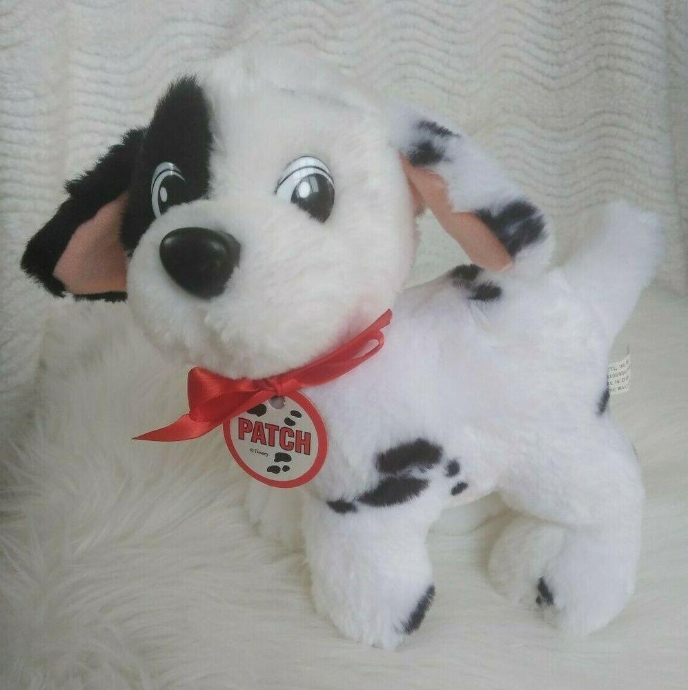 Vtg 1991 8 Mattel Disney Patch 101 Dalmatians Dog Plush Stuffed Animal Toy Pup Mattel Plush Stuffed Animals Pet Toys Disney Patches