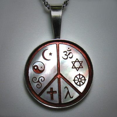 The world peace pendant eight religious and cultural symbols co the world peace pendant eight religious and cultural symbols co existing in peace aloadofball Image collections