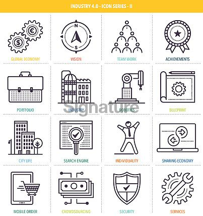 Industry 40 Icon Set 아이콘 Pinterest Icon set and Icons - copy business blueprint for manufacturing