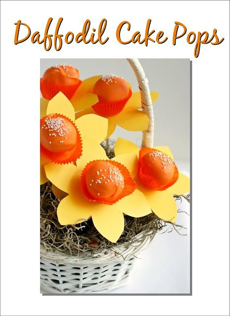 Daffodil Cake Pops-Adorable!