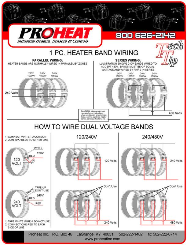 1piece Heater Band Wiring Diagrams Proheat Inc 502 2221402
