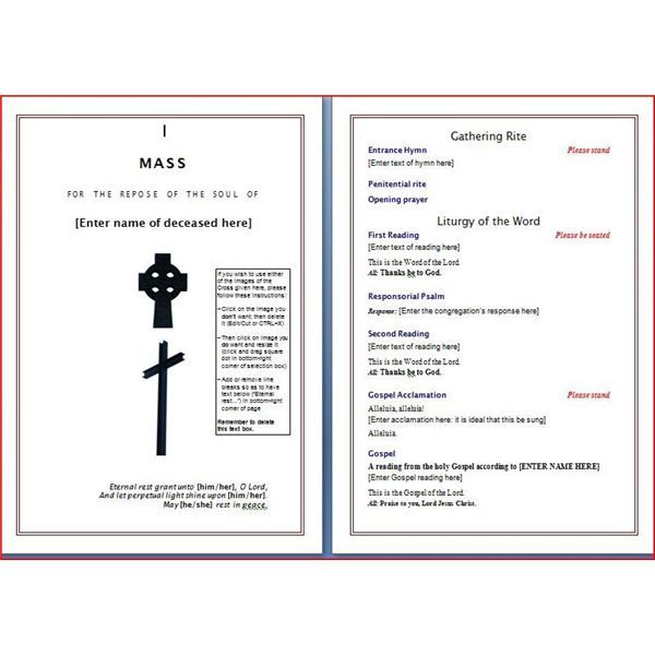 A free funeral program template may just prove to be a valuable – Free Memorial Template