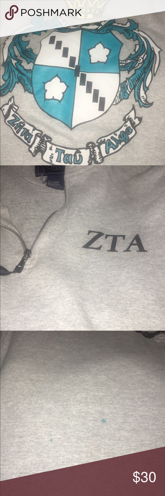 ZTA Crest Quarter Zip 2 small paint stains on the front, otherwise perfect Jackets & Coats