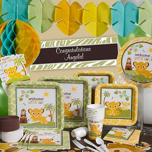 Lion Baby Shower Ideas: Our Sweet Circle Of Life Party Supplies Will Make Your
