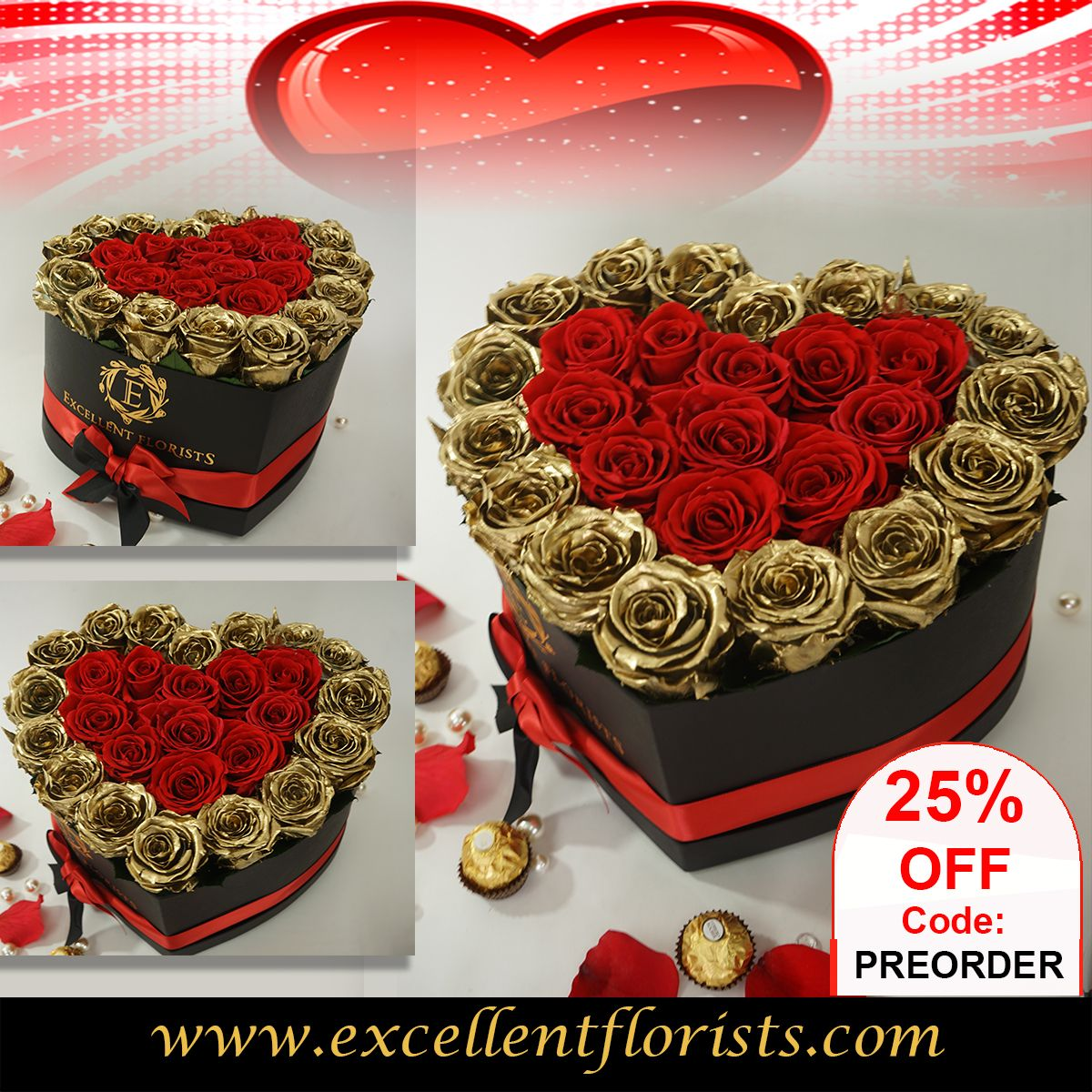 25 DISCOUNT OFF Preorder your Valentine´s gift in 2020