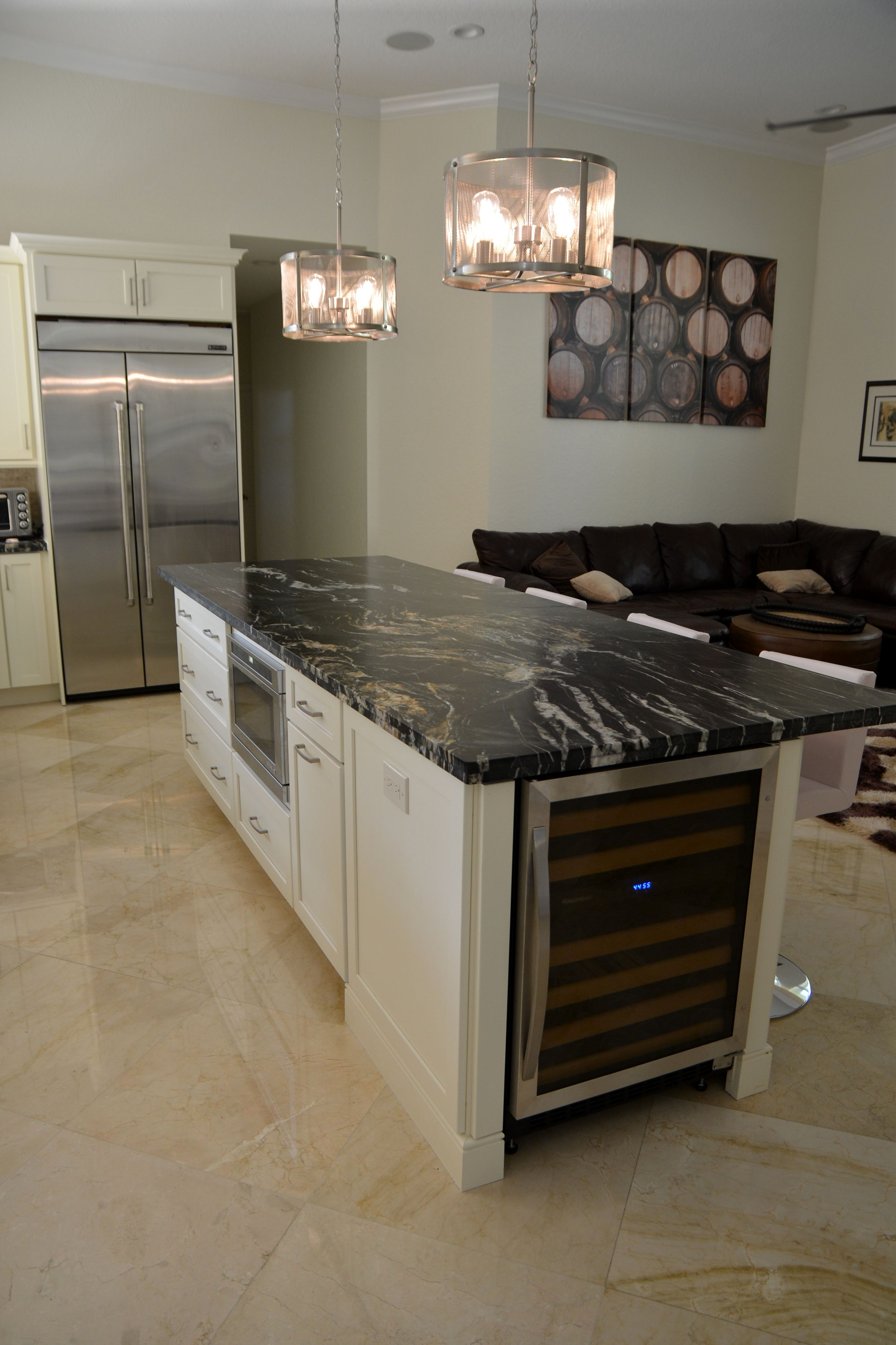 Kitchen Island By Kitchen Designs More With White Cabinets Black White Granite Countertop St Ikea Kitchen Island Black Kitchen Island Kitchen Countertops