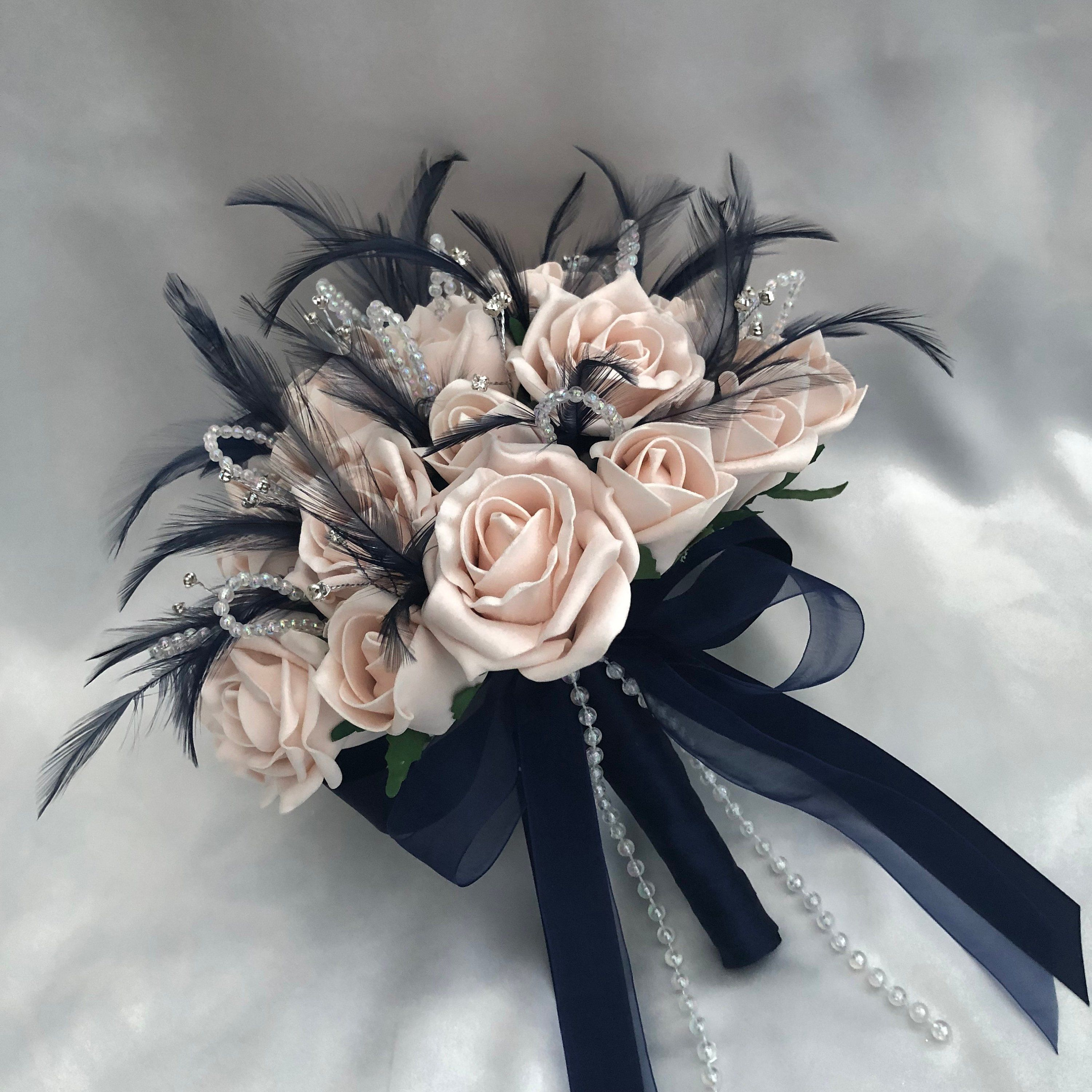 Artificial Wedding Flowers Brides Bridesmaids Posy Bouquet With