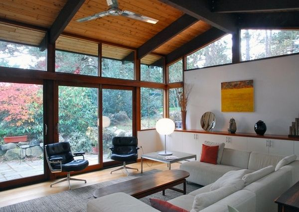 Vaulted ceiling design ideas exposed wooden beams modern - Interior design ceiling living room ...