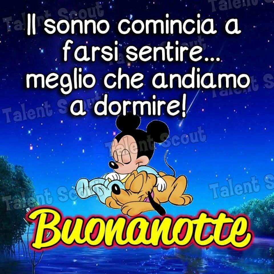 Buonanotte Topolino Pluto Disney Sonno Aprendiendo Italiano