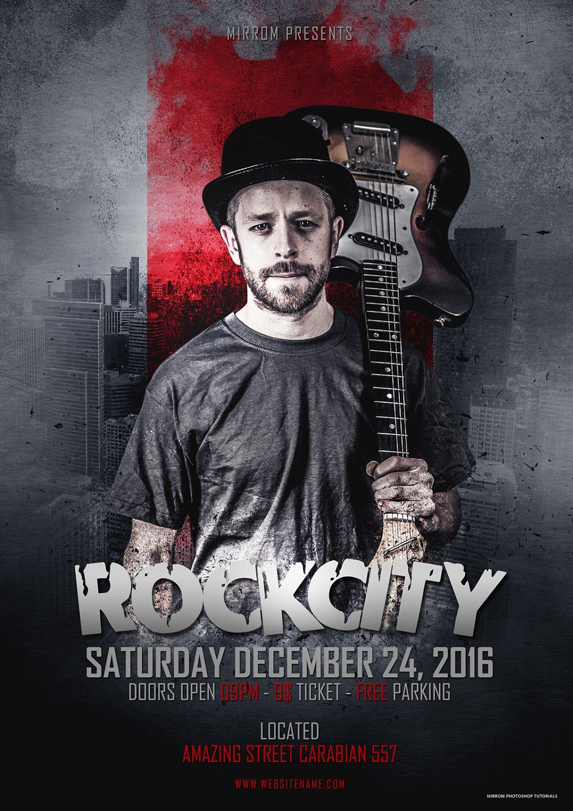 This time ill show it to you to make a poster of rock music concert from scratch using only photoshop