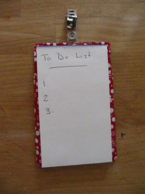make a to-do list you can hang anywhere--quick and easy