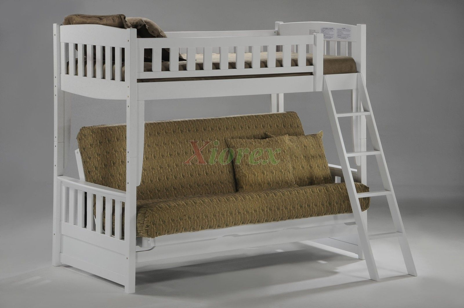 White Futon Bunk Cinnamon Futon Bunk Bed by Night and Day