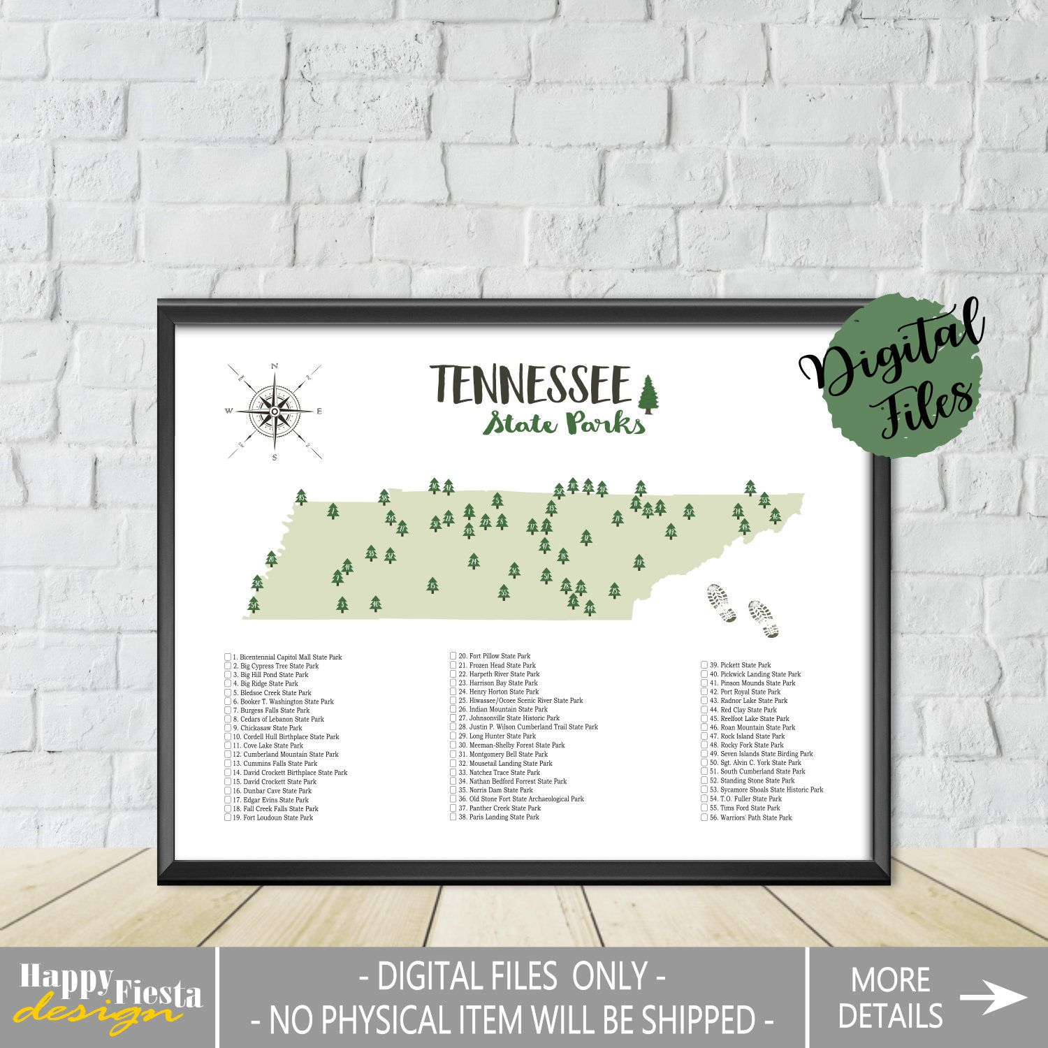 Printable Tennessee State Parks Map State Parks Of