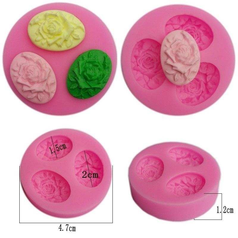 Brooch Diamond Silicone Cake Mold Cupcake Kitchen Soap Chocolate Molds Q
