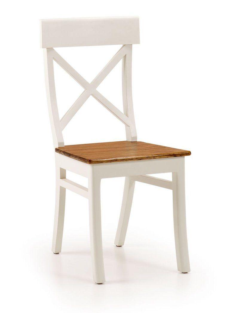 silla de comedor colonial combi asiento de madera demarqueses