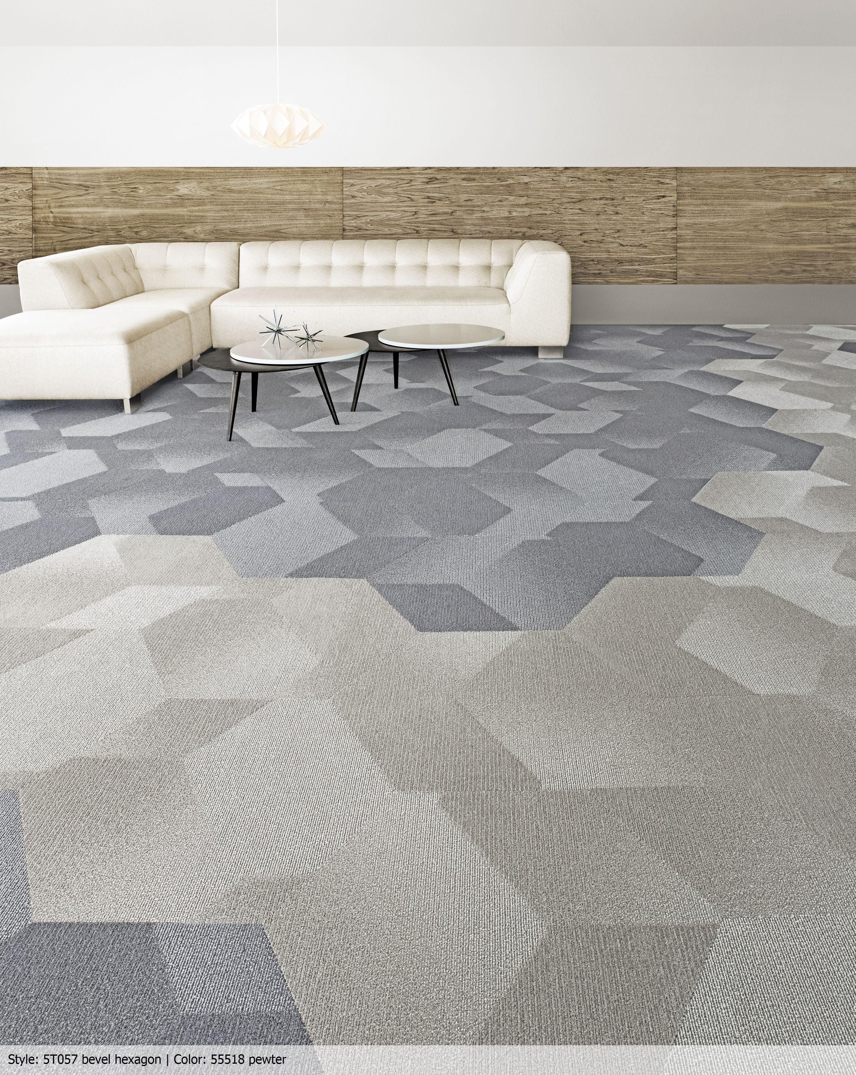 Bevel Offers A Visual Deconstruction Of The Hexagon Both Through A Dimensional Layering Of Shapes And Through A P Carpet Tiles Shaw Carpet Commercial Carpet
