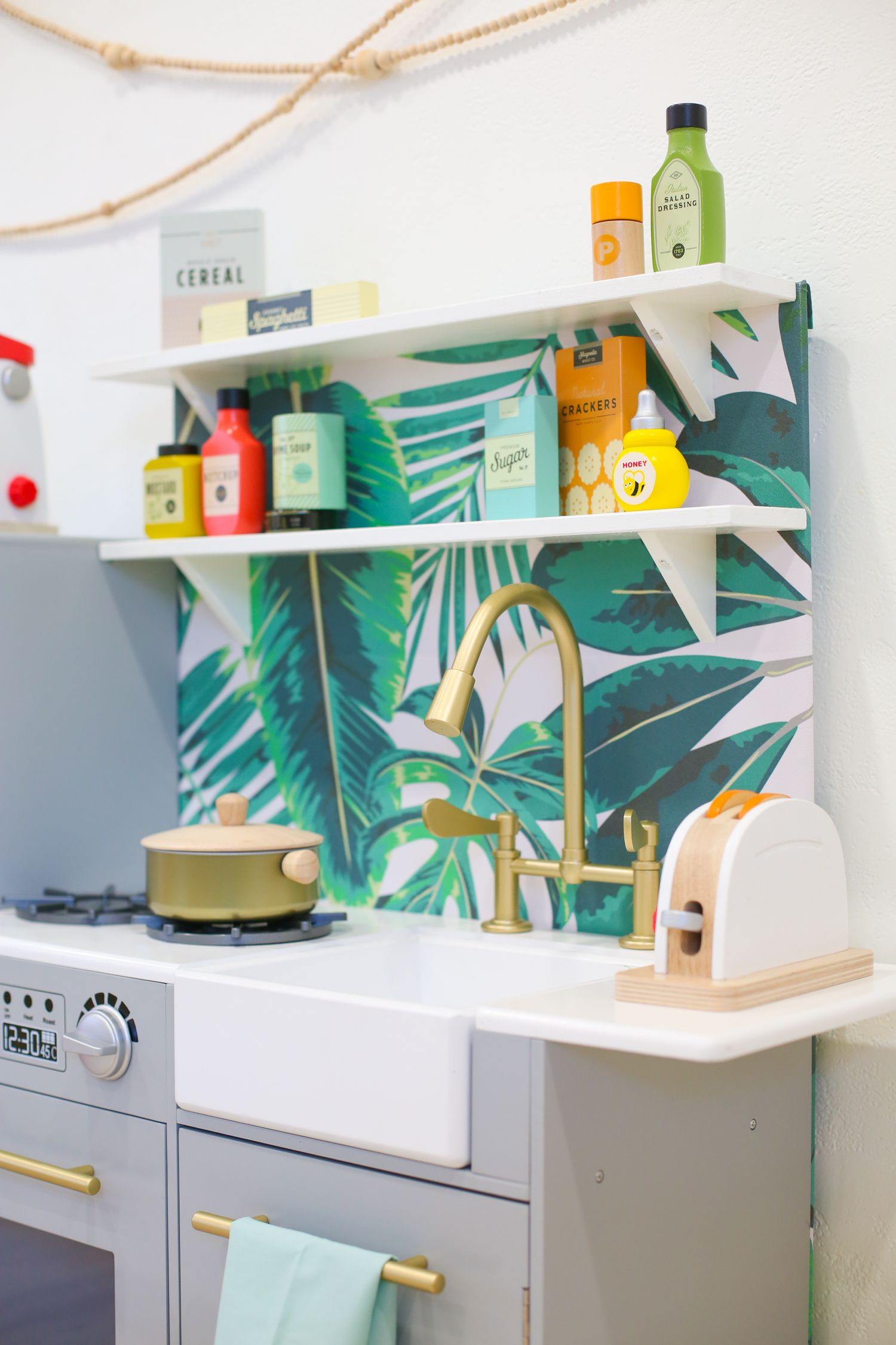 Kids Play Kitchen Accessories Hanging Lights Over Island Diy Hacks And Our Favorite How To Hack Customize A Plus The Best Toys Fill Up Shelves