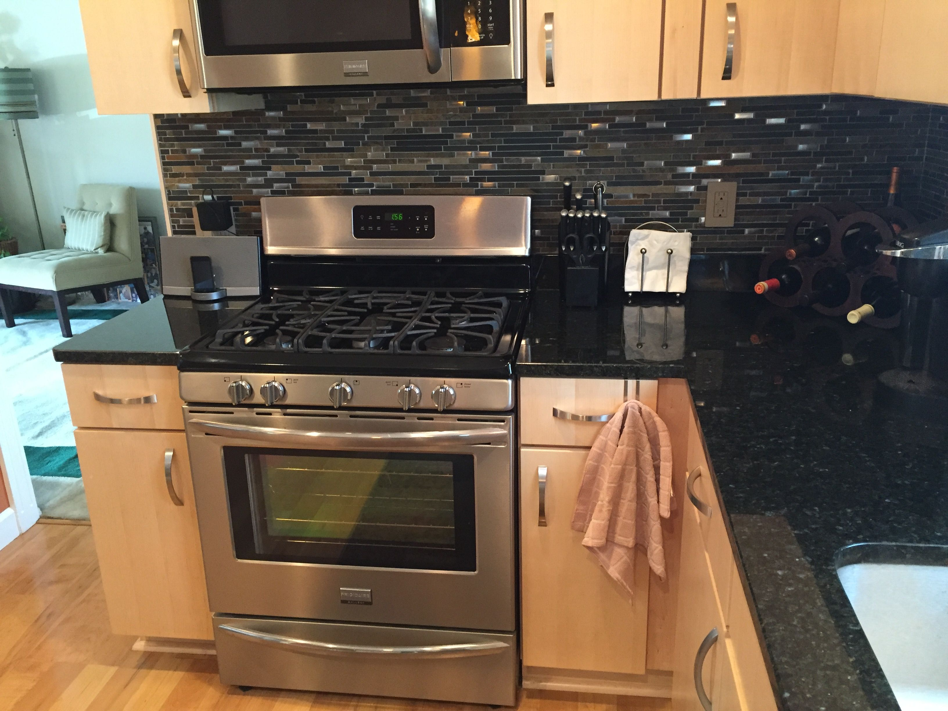 We installed Natural Quartersawn Maple Cabinets with Uba ... on Kitchen Backsplash With Natural Maple Cabinets  id=90757