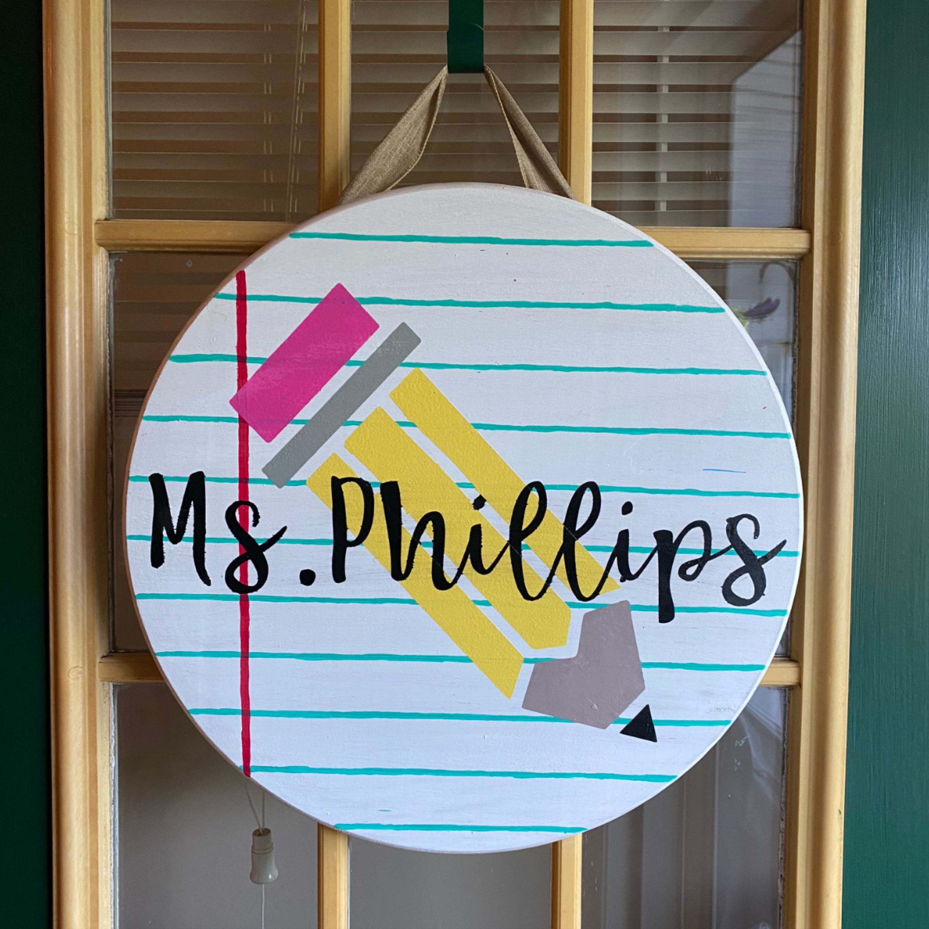 Teacher Name Sign For Sale In 2021 Teacher Name Signs Teacher Door Hangers Door Signs Diy Teacher name signs for classroom