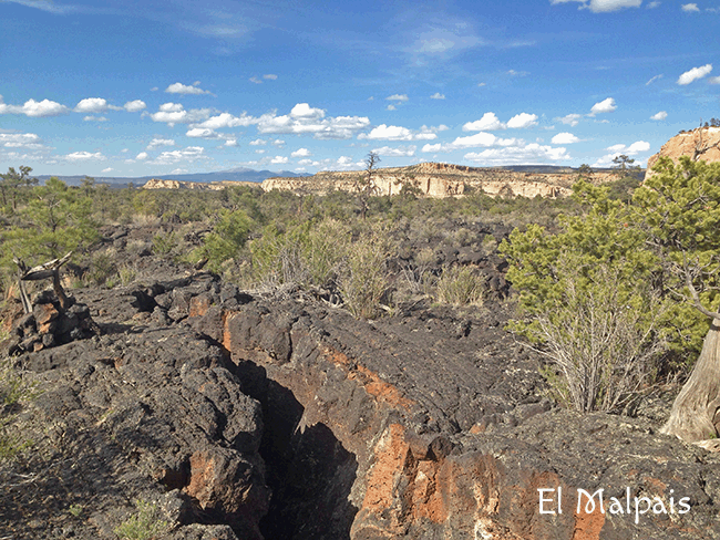 CONTINENTAL DIVIDE TRAIL - The New Mexico stretch can be very harsh, with unexpected snow at high elevations and rocky lava fields like El Malpais to the south
