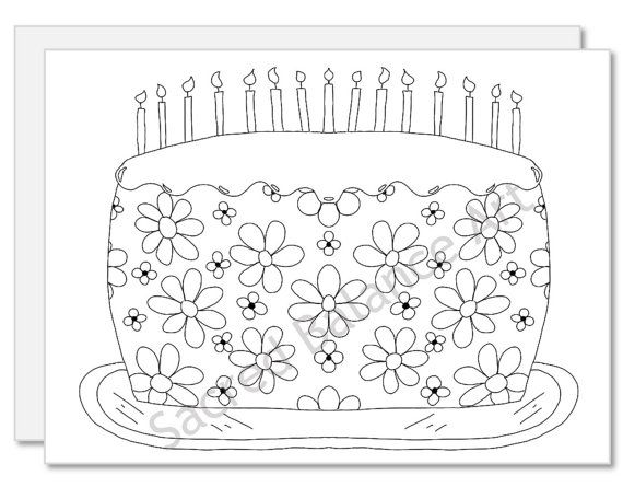 Color Your Own Card Greeting Card Ready For By Demarestdesigns