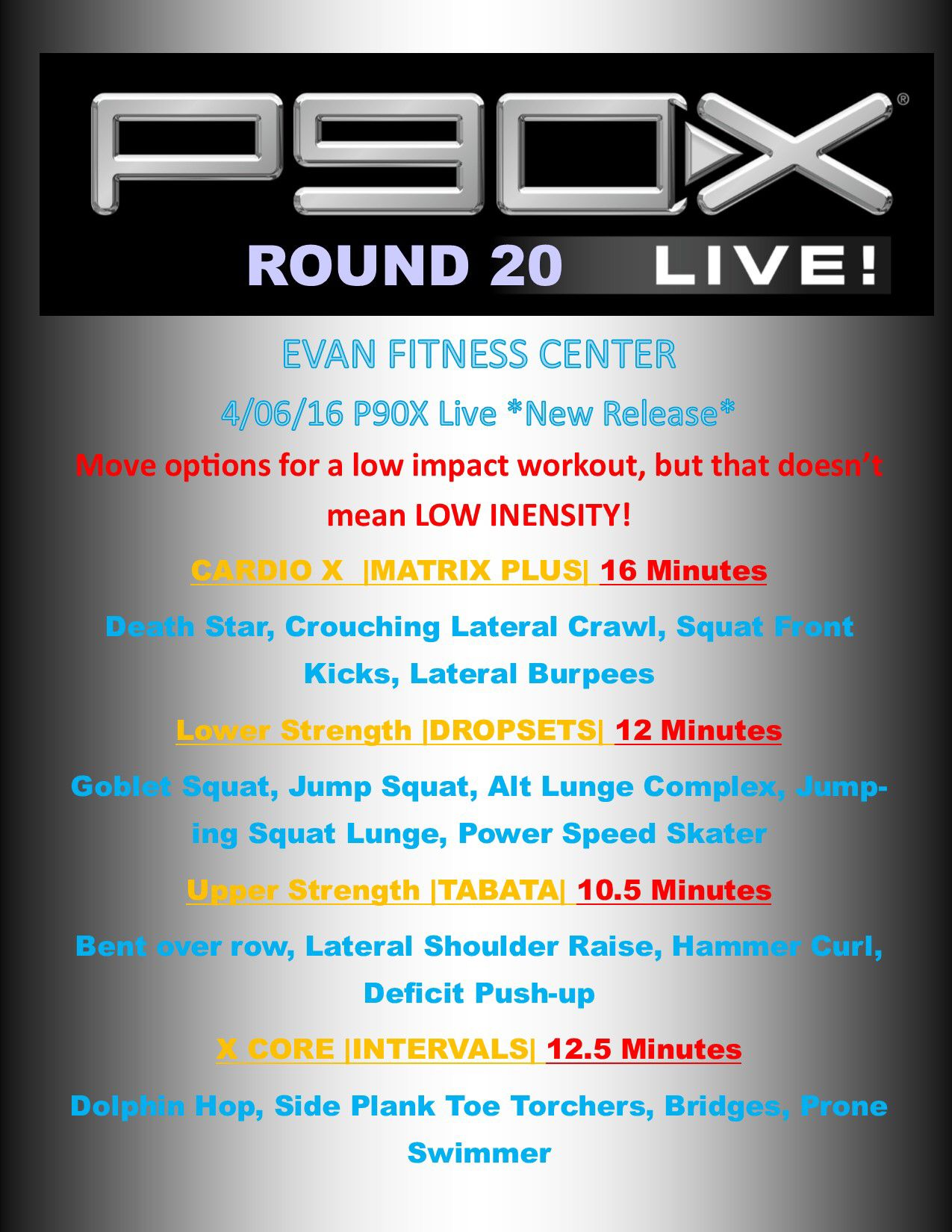 P90x Workout Routine Details