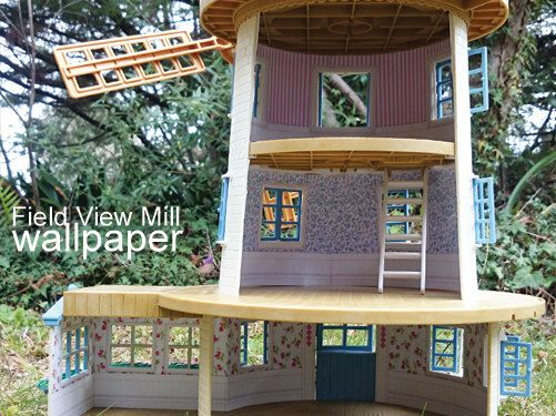 Custom Wallpaperfor Sylvanian Families FIELD VIEW MILLCalico Critters
