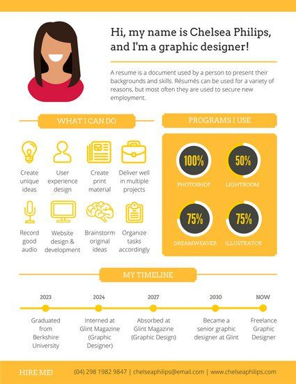 Modern Infographic Resume CV Pinterest Infographic resume - info graphic resume